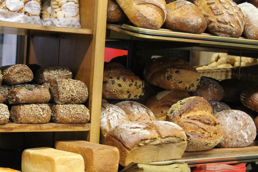 Brot-Auswahl-Ladenlokal